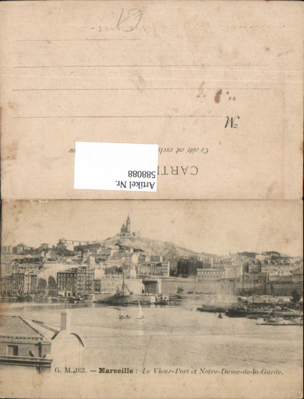 588088,Marseille Le Vieux-Port et Norte-Dame-de-la-Garde France