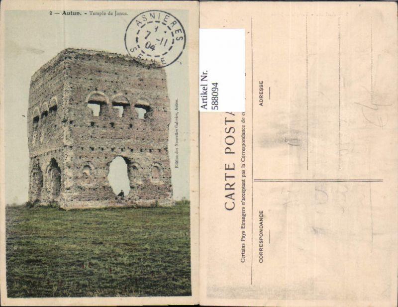 588094,Autun Temple de Janus Ruine Tempel Turm France