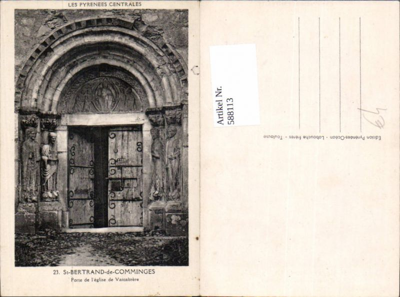 588113,St-Bertrand-de-Comminges Porte de l eglise de Valcabrere France