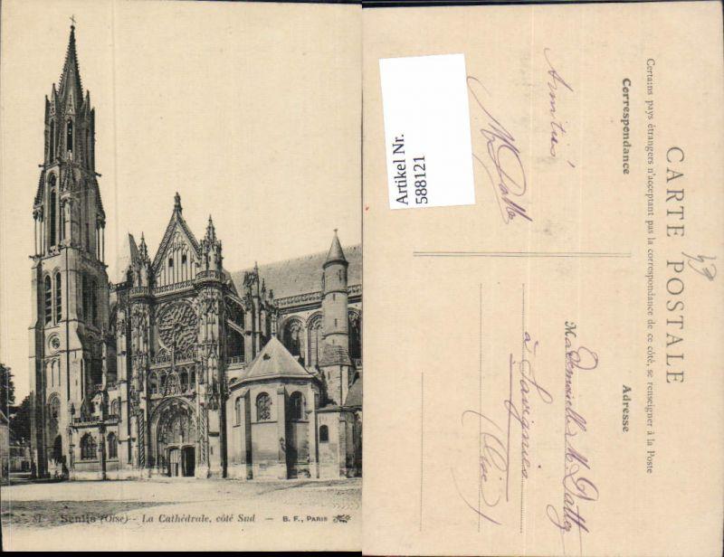 588121,Senlis Oise La Cathedrale cote Sud France