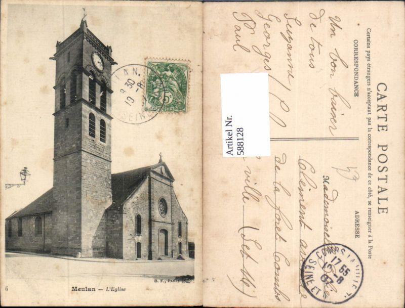 588128,Meulan L Eglise Kirche France