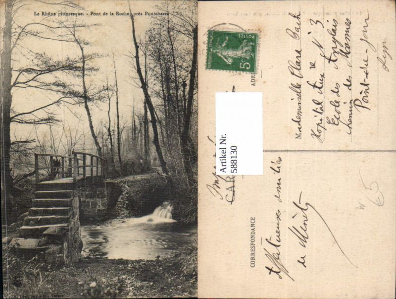 588130,La Rhone pittoresque Pont de la Roche pres Pontcharra Brücke France
