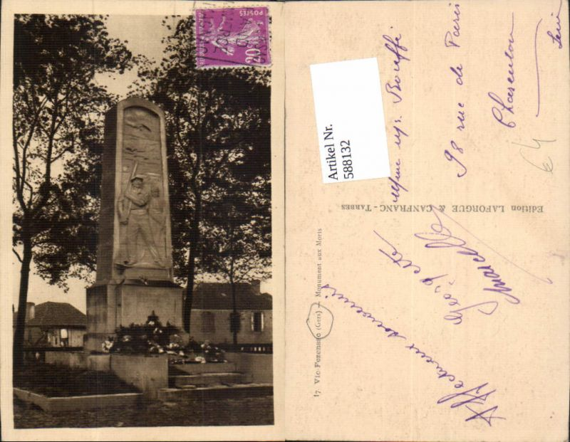 588132,Vic-Fezensac Gers Monument aux Morts Denkmal France