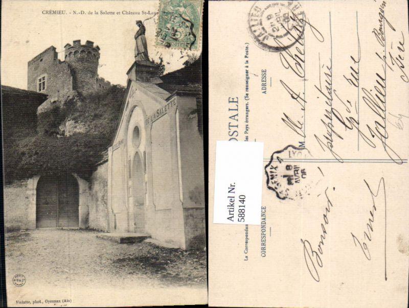 588140,Cremieu Isere Notre Dame de la Salette et Chateau St Laurent Schloss France