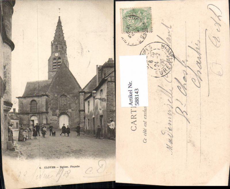 588143,Cloyes Eglise Facade Kirche France