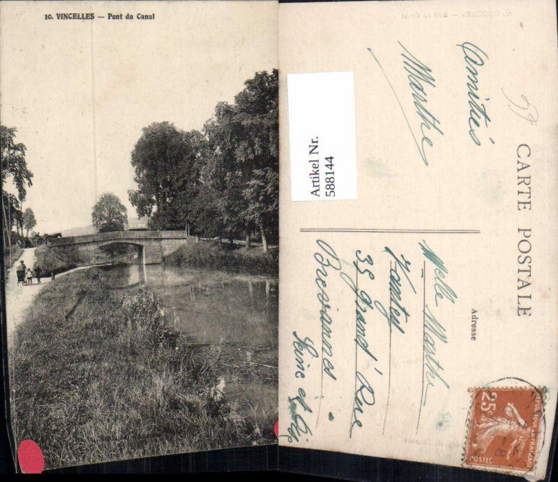 588144,Vincelles Pont du Canal Brücke France