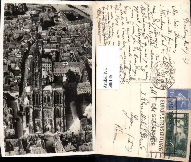 588145,Luftbild Strasbourg Straßburg La Cathedrale France