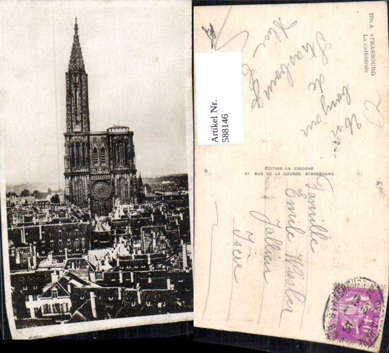 588146,Foto Ak Strasbourg Straßburg La Cathedrale France