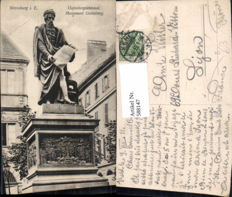 588147,Strasbourg Straßburg Gutenbergdenkmal Monument Gutenberg Statue France
