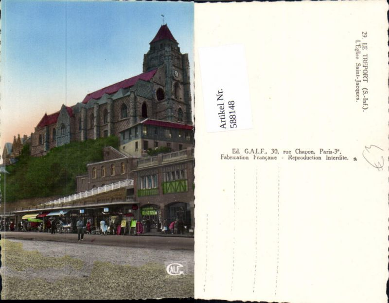 588148,Le Treport L Eglise Saint-Jacques Kirche France