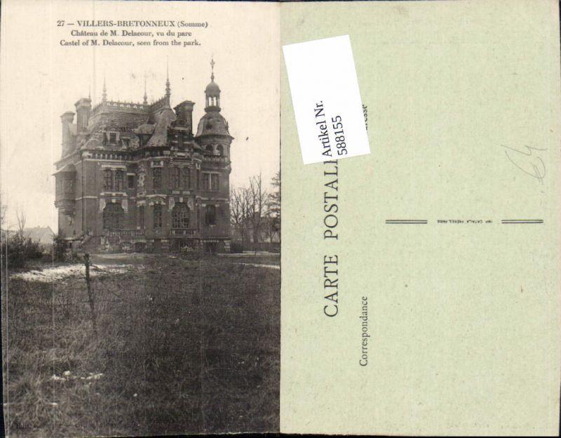 588155,Villers-Bretonneux Somme Chateau de M. Delacour vu du parc Schloss France