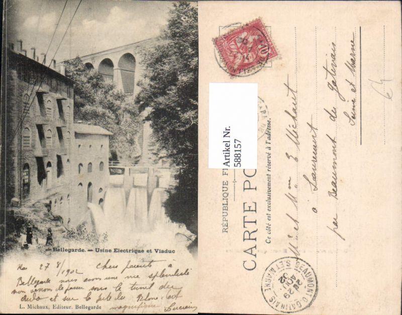 588157,Bellegarde Usine Electrique et Viaduc Viadukt France