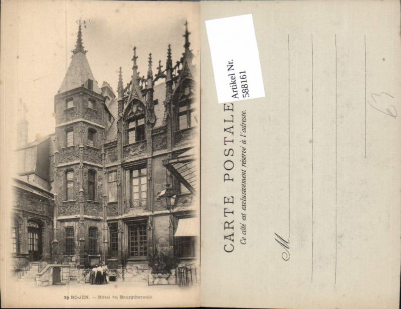 588161,Rouen Hotel du Bourgtherould France