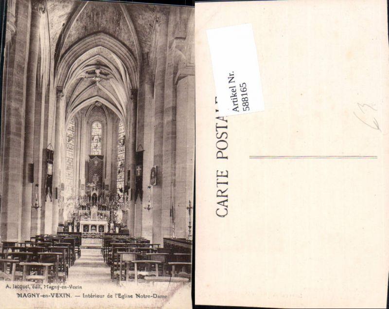588165,Magny-en-Vexin Interieur de l Eglise Notre Dame Innen Kirche France