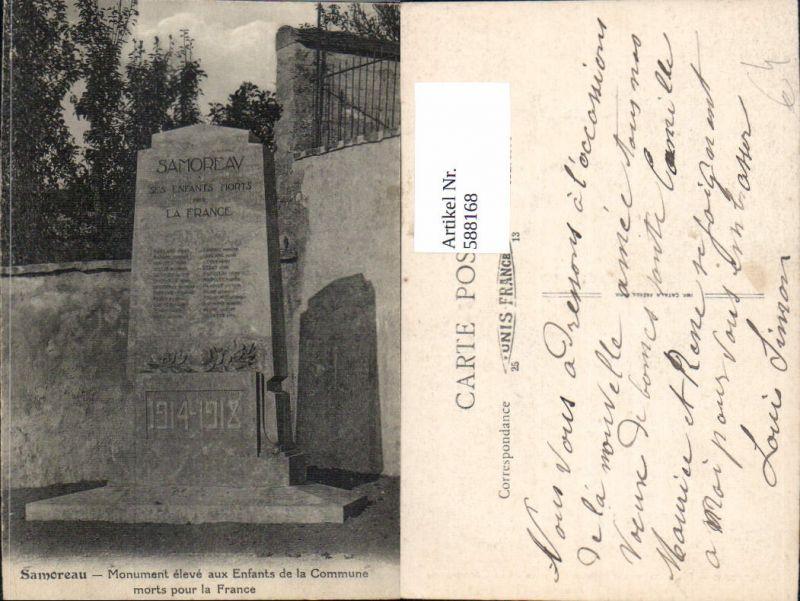 588168,Samoreau Monument eleve aux Enfants de la Commune morts pour la France