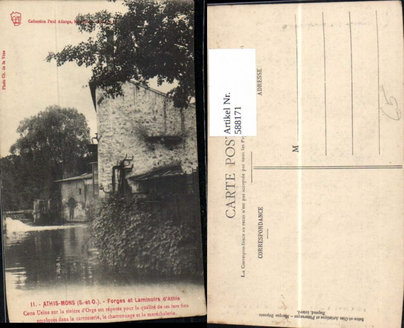 588171,Athis-Mons Forges et Laminoirs d Athis France