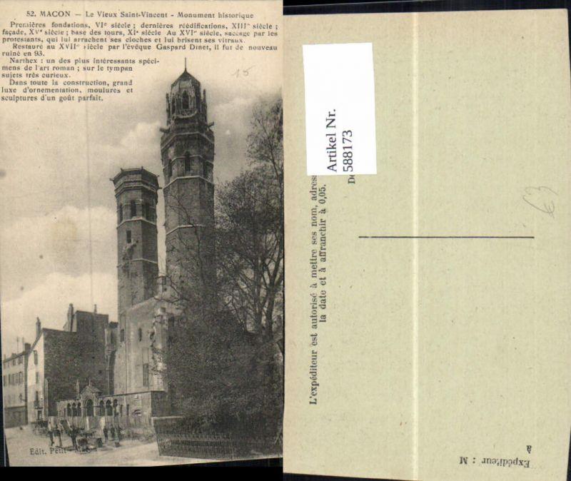 588173,Macon Le Vieux Saint-Vincent Monument historique France