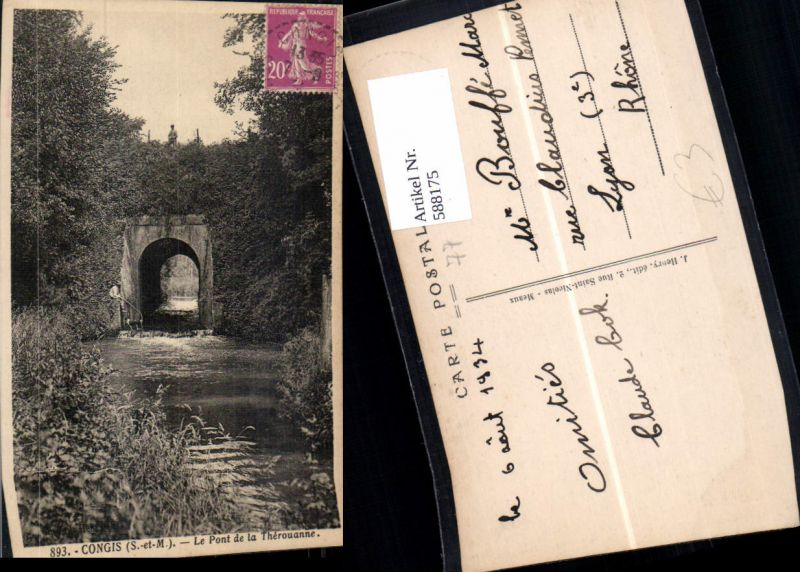 588175,Congis Le Pont de la Therouanne Brücke France