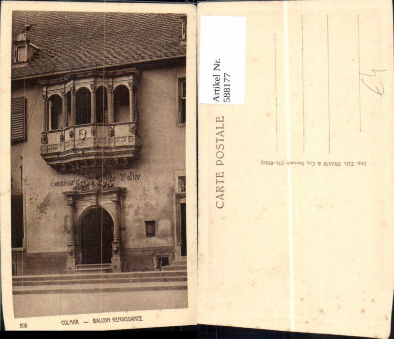 588177,Colmar Balcon Renaissance France