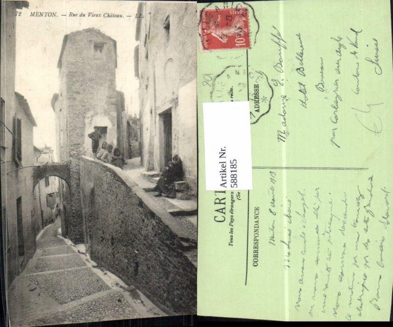 588185,Menton Rue du Vieux Chateau France