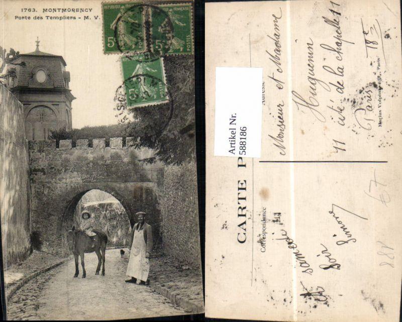 588186,Montmorency Porte des Templiers Pferd France