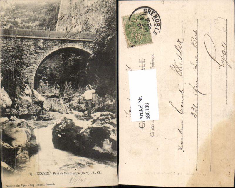 588188,Cognin Pont de Mouchardon Isere Brücke France