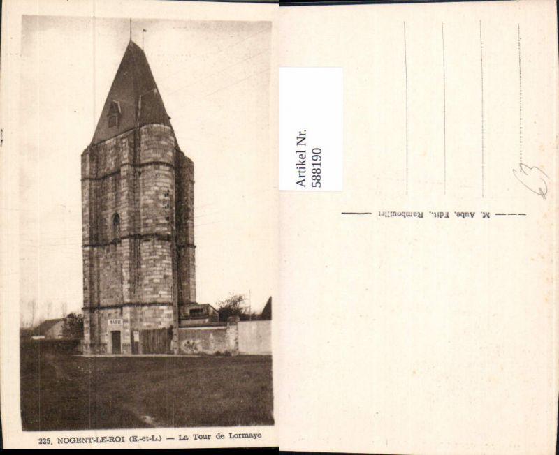 588190,Nogent-Le-Roi La Tour de Lormaye Turm France