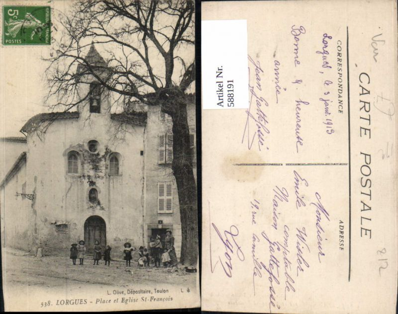 588191,Lorgues Place et Eglise St Francois France