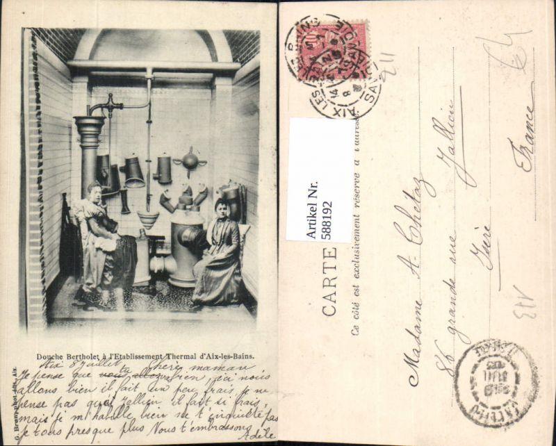 588192,Aix-les-Bains Douche Bertholet a l Etablissement Thermal France