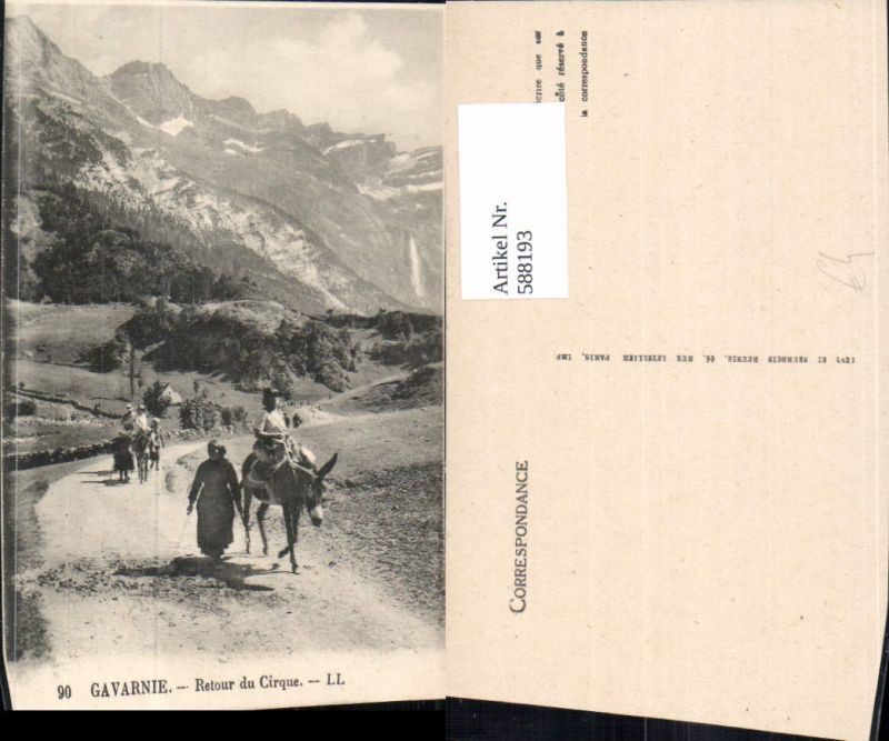 588193,Gavarnie Retour du Cirque Esel France