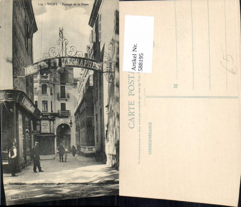 588195,Vichy Passage de la Poste Post France