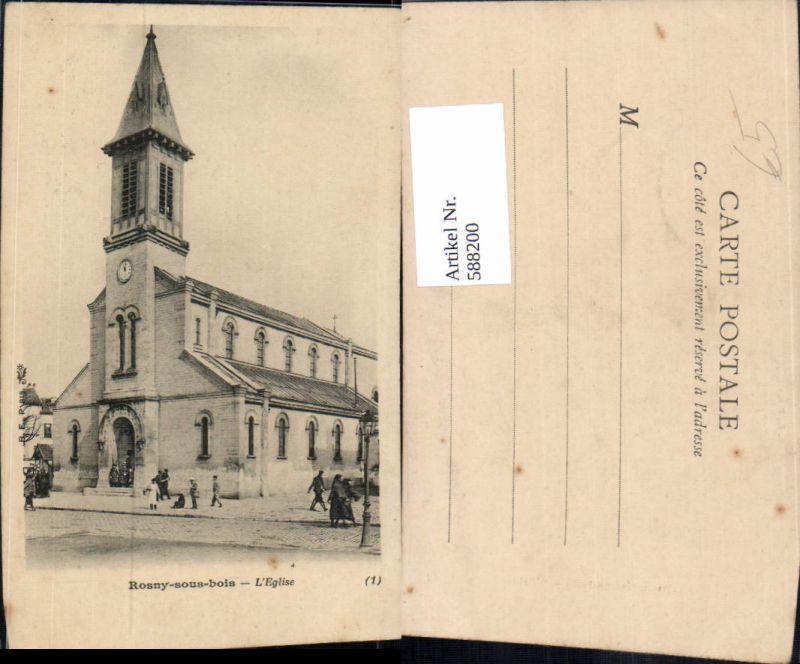 588200,Rosny-sous-bois L Eglise Kirche France