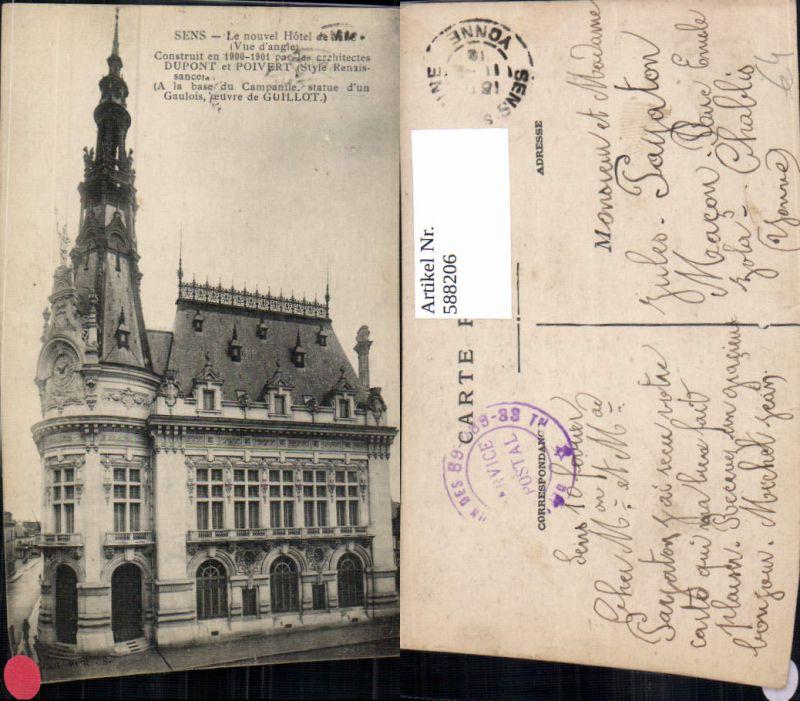 588206,Sens Le nouvel Hotel de Ville France