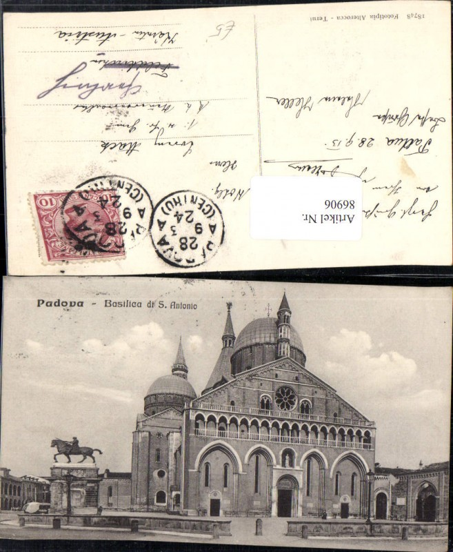 86906,Padova Basilica di S Antonio Detailansicht Veneto