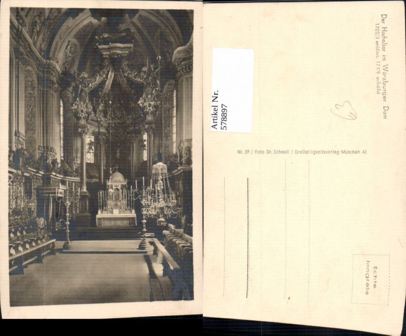 578897,Würzburg Dom Hochaltar Altar