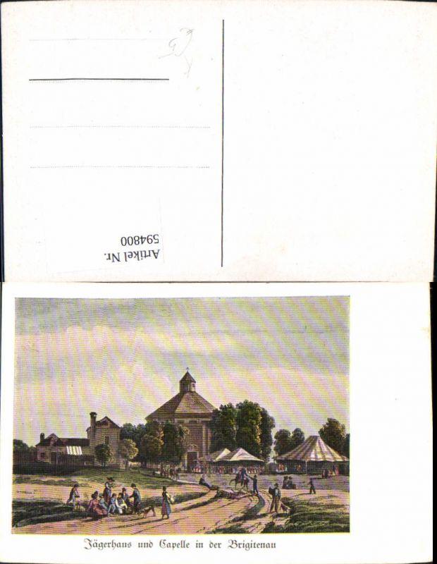 594800 kunstler ak brigittenau jagerhaus u kapelle wien vienna 0