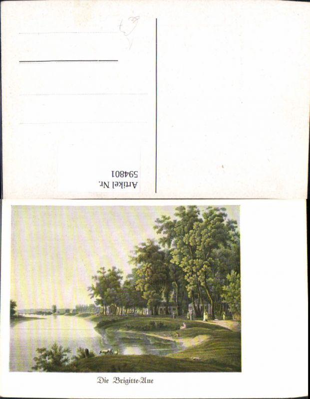 594801 kunstler ak wien brigittenau aue landschaft vienna