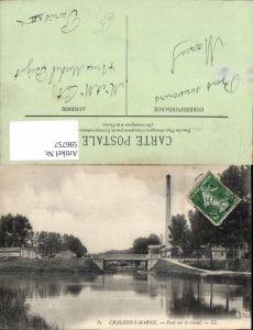 596757,Chalons-sur-Marne Pont sur le Canal Brücke Turm France