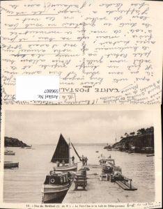 596807,Ile de Brehat Le Port Clos et la Cale de Debarquement Hafen Boote Segelboot France