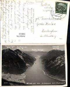 598019,Foto Ak Blick auf d. Achensee m. Pertisau Eben a. Achensee