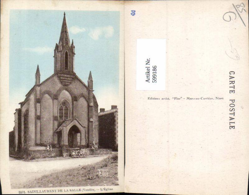 599186,Saint-Laurent de La Salle Vendee L Eglise Kirche France