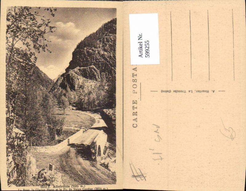 599255,Ailefroide Le Pont le Glacier Blanc et le Pic de Neige Cordier Brücke France