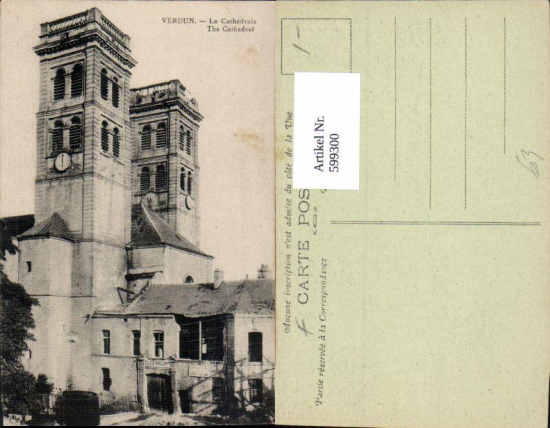 599300,Verdun La Cathedrale Kathedrale zerstört France