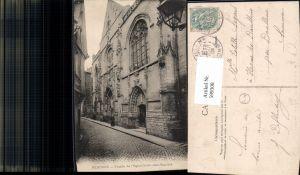 599308,Peronne Facade de l Eglise Saint-Jean-Baptiste France