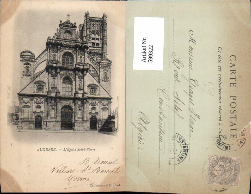 599322,Auxerre L Eglise Saint-Pierre Kirche France