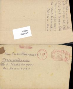 599355,Kriegsgefangenenpost POW Bonn 5. Civilian Internment Camp Obernwöhren Stadthagen Hannover