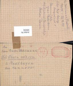 599356,Kriegsgefangenenpost POW Bonn 5. Civilian Internment Camp Obernwöhren Stadthagen Hannover