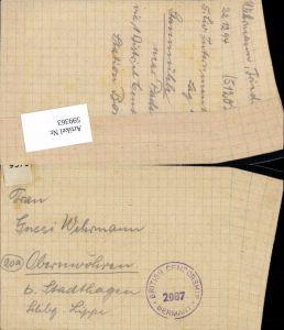 599363,Kriegsgefangenenpost POW Bonn 5. Civilian Internment Camp Obernwöhren Stadthagen Hannover