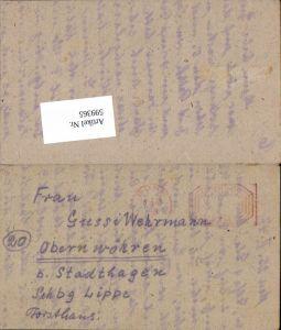 599365,Kriegsgefangenenpost POW Bonn 5. Civilian Internment Camp Obernwöhren Stadthagen Hannover