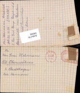 599366,Kriegsgefangenenpost POW Bonn 5. Civilian Internment Camp Obernwöhren Stadthagen Hannover